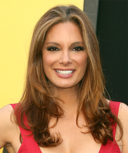 Alex Meneses Long Straight Formal   Hairstyle   - Medium Brunette (Caramel)