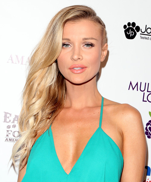 Joanna Krupa Long Wavy Formal    Hairstyle   - Light Honey Blonde Hair Color