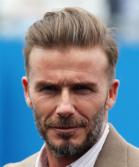 David Beckham Short Straight Formal    Hairstyle   - Dark Blonde Hair Color