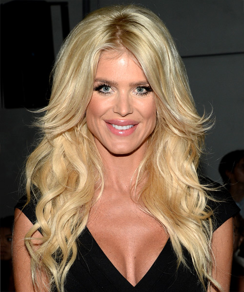 Victoria Silvstedt Long Wavy Formal   Hairstyle   - Light Blonde (Golden)