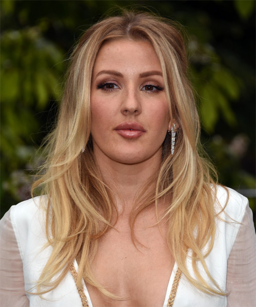 Ellie Goulding Long Wavy Casual   Hairstyle   - Medium Blonde
