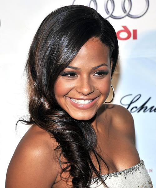 Christina Milian Long Wavy Formal   Hairstyle