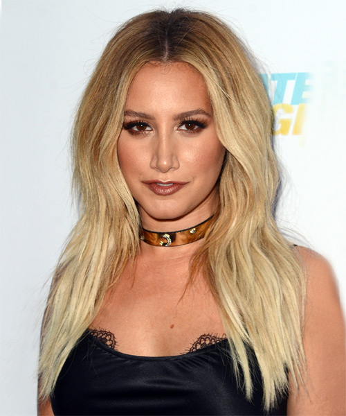 Ashley Tisdale Long Straight Casual    Hairstyle   - Light Blonde Hair Color