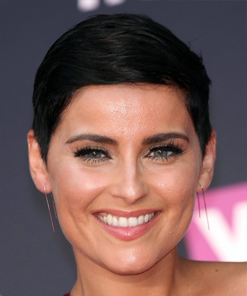 Nelly Furtado Short Straight Casual  Pixie  Hairstyle   - Black  Hair Color