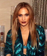 Jennifer Lopez Long Straight Formal    Hairstyle   - Dark Blonde Hair Color