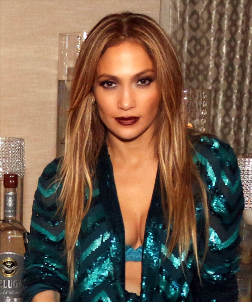 Jennifer Lopez Long Straight   Dark Blonde   Hairstyle