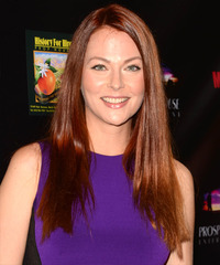 Anna Easteden Long Straight Casual    Hairstyle   - Dark Red Hair Color