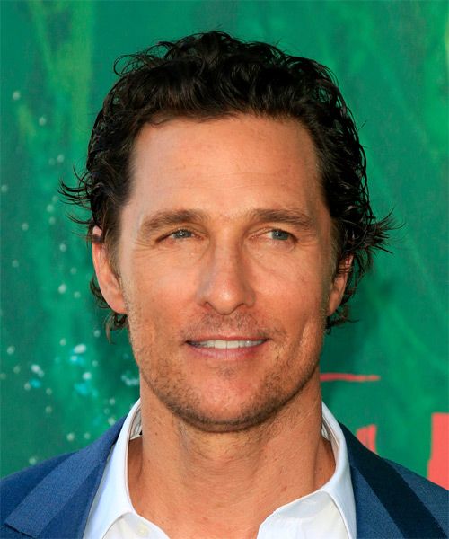 Matthew McConaughey Short Wavy Casual   Hairstyle   - Medium Brunette