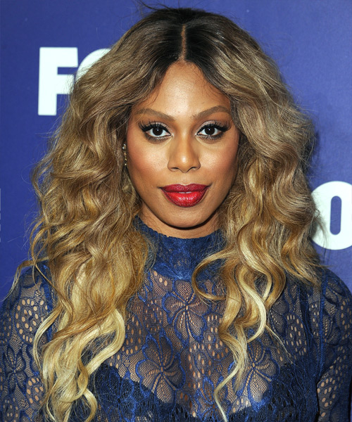 Laverne Cox Long Wavy Casual   Hairstyle   - Dark Blonde