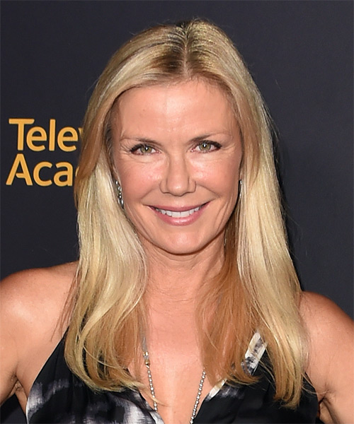 Katherine Kelly Lang Long Straight Casual    Hairstyle   - Light Honey Blonde Hair Color