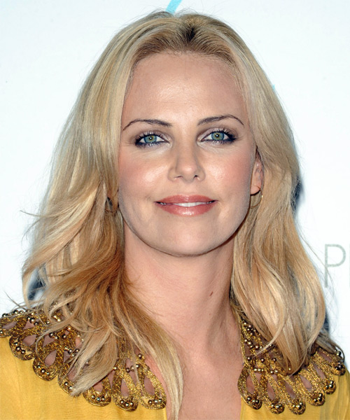 Charlize Theron Long Straight Casual   Hairstyle