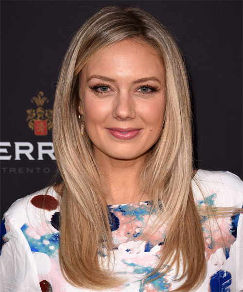 Melissa Ordway Long Straight Formal   Hairstyle   - Light Blonde