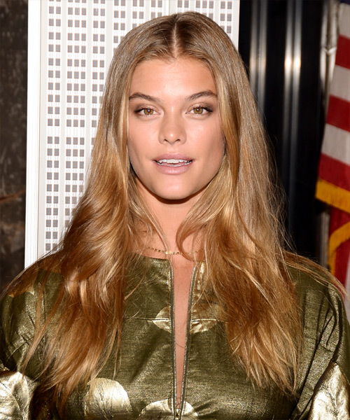Nina Agdal Long Wavy    Golden Blonde   Hairstyle