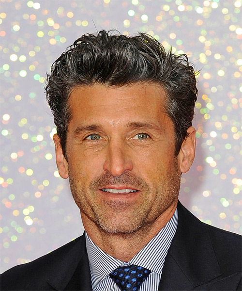 Patrick Dempsey Short Wavy Formal    Hairstyle   - Black  Hair Color