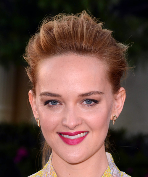 Jess Weixler Long Straight Casual   Updo Hairstyle   - Light Brunette Hair Color