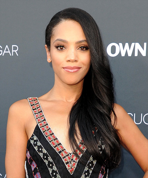 Bianca Lawson Long Wavy Formal    Hairstyle   - Black  Hair Color