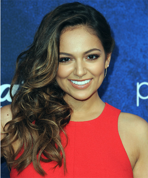 Bethany Mota Long Curly Formal   Hairstyle   - Dark Brunette