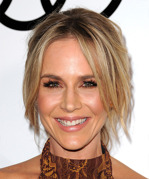 Julie Benz Long Straight Casual  Updo Hairstyle   - Light Blonde