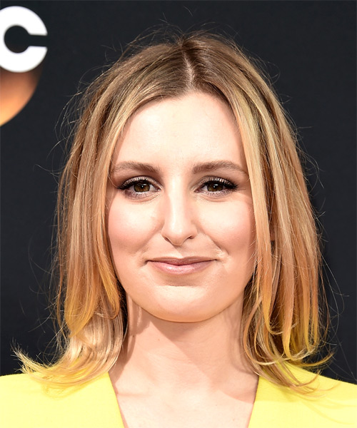 Laura Carmichael Medium Straight    Blonde Bob  Haircut