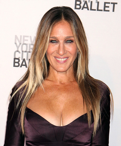 Sarah Jessica Parker Long Straight    Blonde and Light Blonde Two-Tone   Hairstyle
