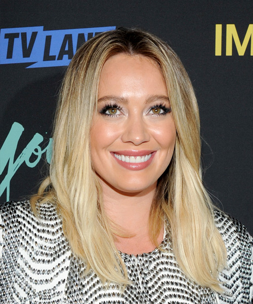 Hilary Duff Medium Straight Formal   Hairstyle   - Light Blonde (Golden)