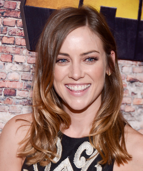 Jessica Stroup Long Wavy Casual   Hairstyle   - Medium Brunette (Golden)