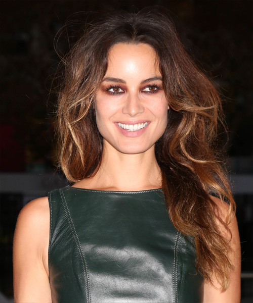 Berenice Marlohe Long Wavy    Golden Brunette   Hairstyle