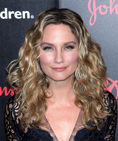 Jennifer Nettles Long Curly Casual    Hairstyle   -  Blonde Hair Color