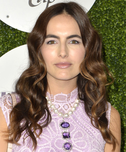 Camilla Belle Long Wavy Casual    Hairstyle   -  Brunette Hair Color
