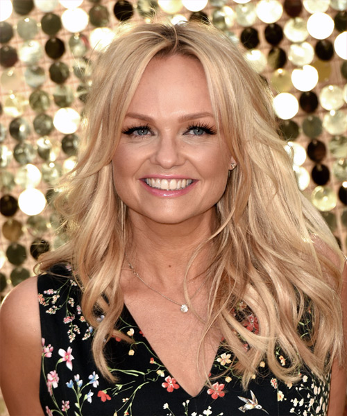 Emma Bunton Long Wavy Formal   Hairstyle   - Light Blonde