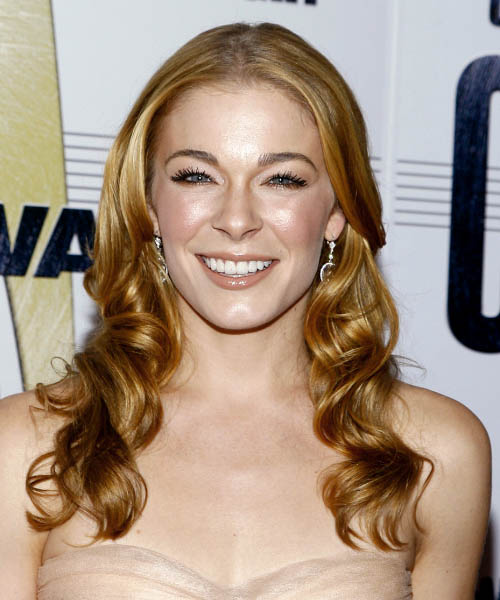 Leann Rimes Long Wavy Formal    Hairstyle