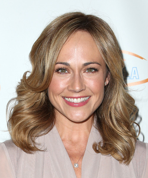 Nikki DeLoach Medium Wavy Casual    Hairstyle   - Light Brunette Hair Color