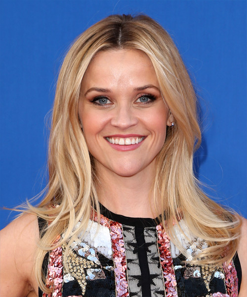 Reese Witherspoon Long Straight Casual    Hairstyle   - Light Blonde Hair Color