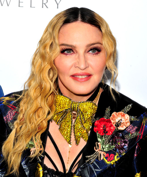 Madonna Long Curly Alternative    Hairstyle   - Medium Golden Blonde Hair Color