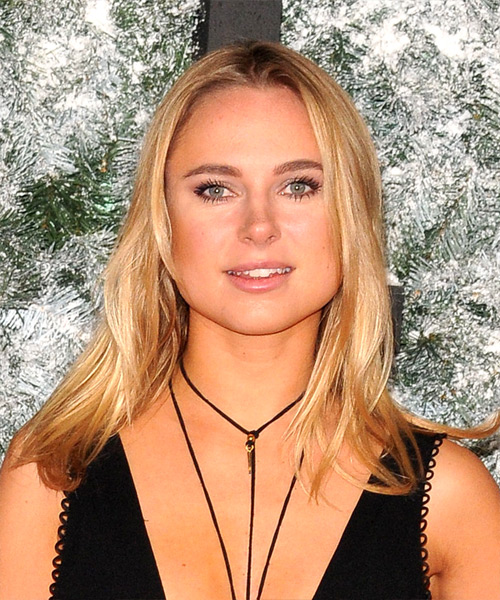 Kimberley Garner Long Straight Casual    Hairstyle   - Medium Golden Blonde Hair Color
