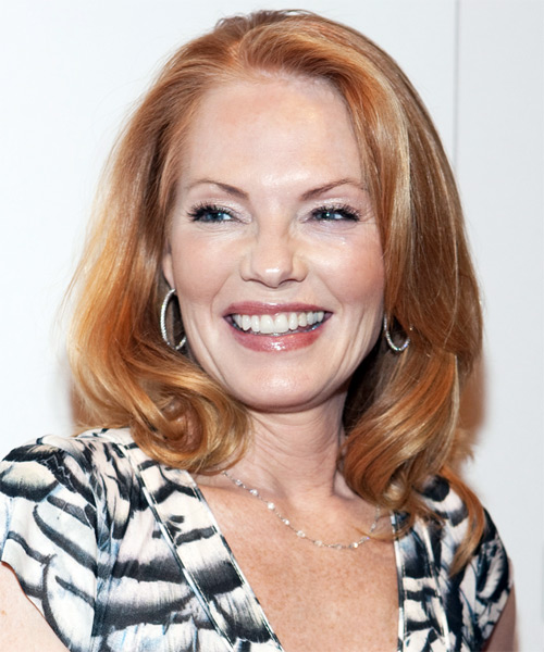 Marg Helgenberger Long Wavy Formal    Hairstyle