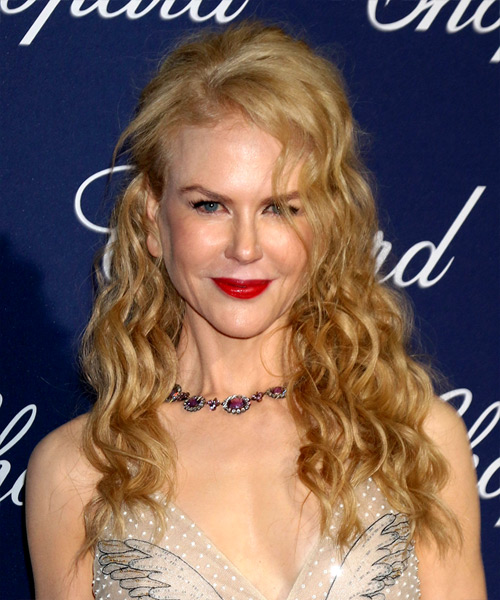 Nicole Kidman Long Curly Formal   Hairstyle   - Light Blonde (Golden)