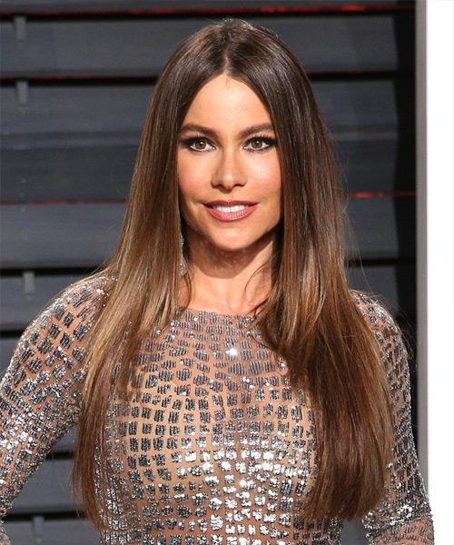 Sofia Vergara Long Straight Formal   Hairstyle   - Medium Brunette