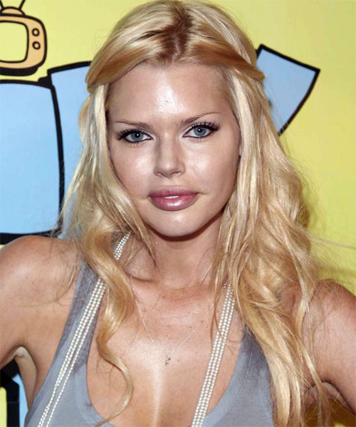 Sophie Monk Half Up Long Curly Casual  Half Up Hairstyle