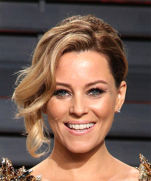 Elizabeth Banks Medium Wavy Formal Wedding Updo Hairstyle   - Dark Blonde