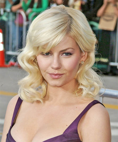 Elisha Cuthbert Long Wavy Formal   Hairstyle