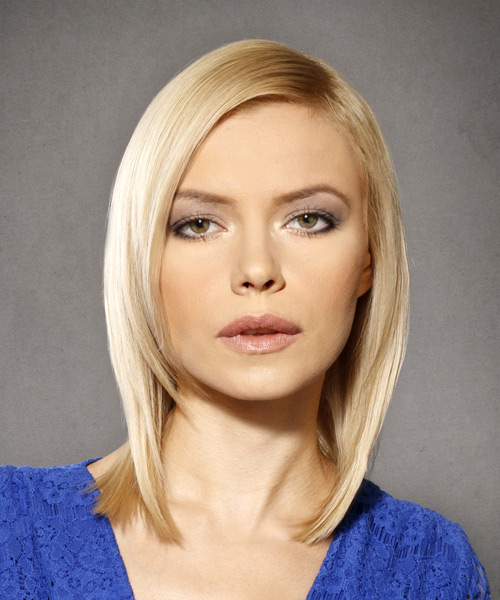 Medium Straight Formal Bob  Hairstyle   - Light Blonde