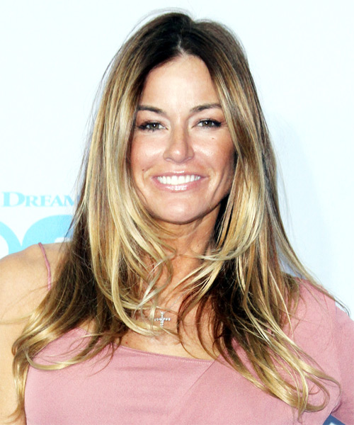 Kelly Bensimon Long Straight Casual   Hairstyle   - Dark Blonde