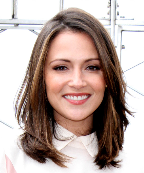 Italia Ricci Medium Straight Casual   Hairstyle   - Medium Brunette