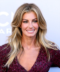 Faith Hill Long Straight    Blonde   Hairstyle