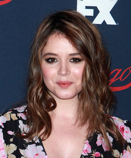 Kether Donohue Long Wavy Casual   Hairstyle   - Dark Brunette