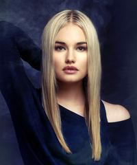 Long Straight Formal    Hairstyle   - Light Blonde Hair Color