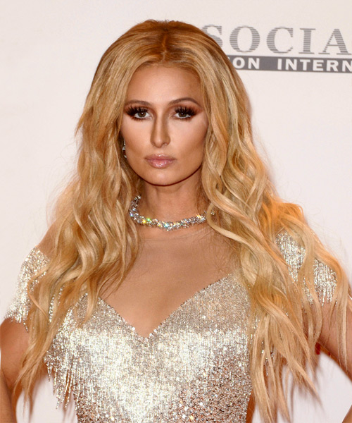 Paris Hilton Long Wavy Casual   Hairstyle   - Medium Blonde (Golden)