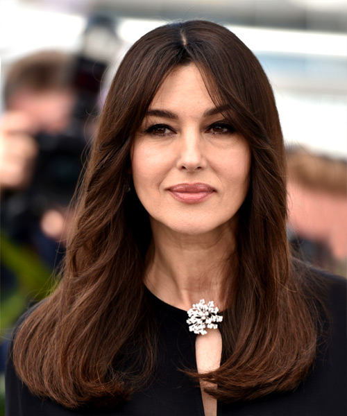 Monica Bellucci Long Straight Casual   Hairstyle   - Dark Brunette