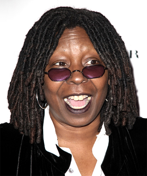 Whoopi Goldberg Long Curly Alternative   Hairstyle